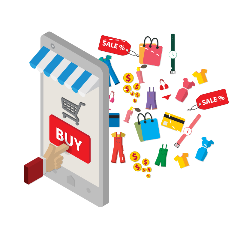 Mobile Ecommerce Illustration